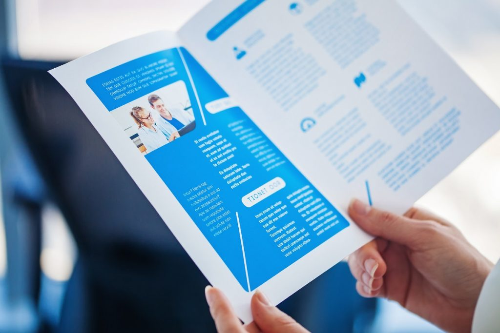 Promotional material brochure